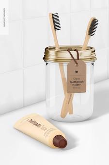 Maquette de porte-brosse à dents en verre 02