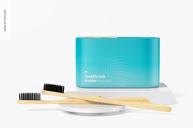 Maquette de porte-brosse à dents, vue de face