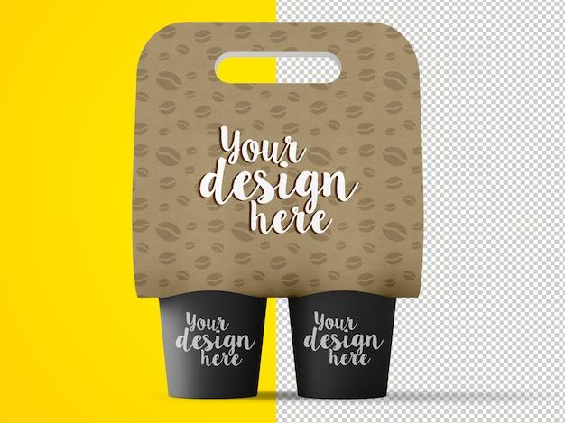 Maquette de porte-café isolée
