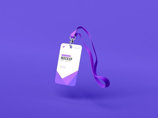 Maquette de porte-cartes d'identité verticale