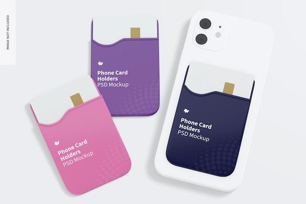 Maquette de porte-cartes téléphoniques
