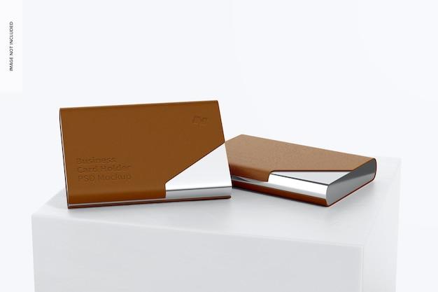 Maquette de porte-cartes de visite