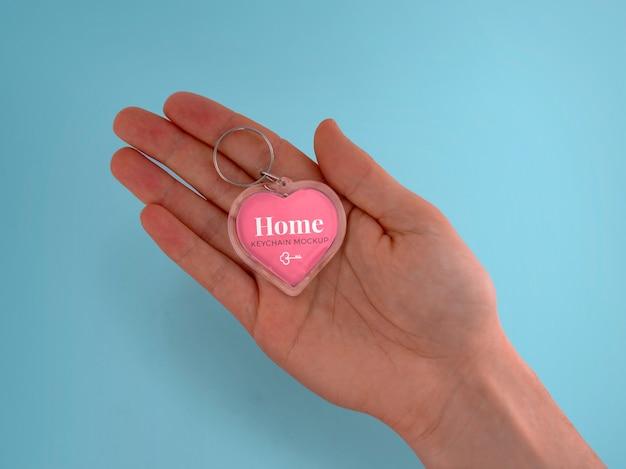 Maquette de porte-clés coeur