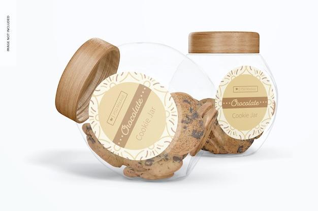 Maquette de pot à biscuits en verre, abandonné