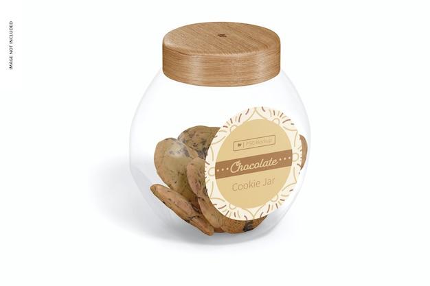 Maquette de pot à biscuits en verre, vue de face