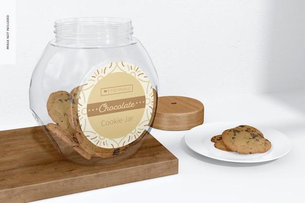 Maquette de pot à biscuits en verre