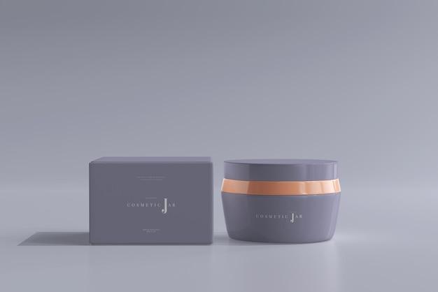 Maquette de pot et boîte cosmétique