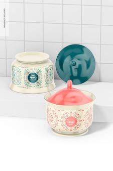 Maquette de pot de bonbons en céramique, penchée