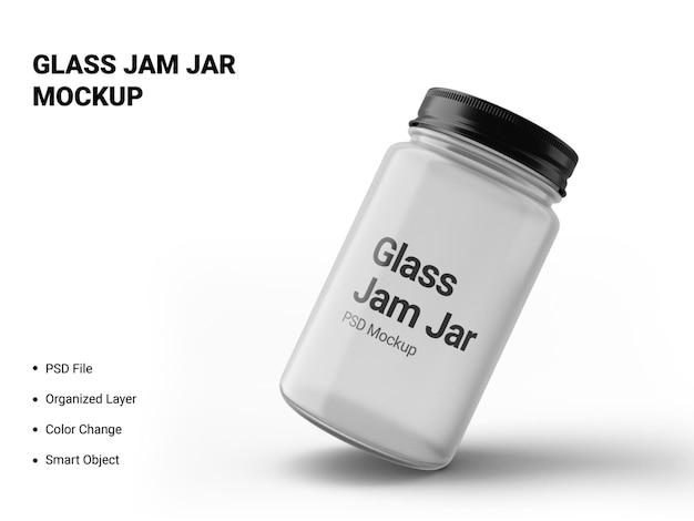 Maquette de pot de confiture en verre