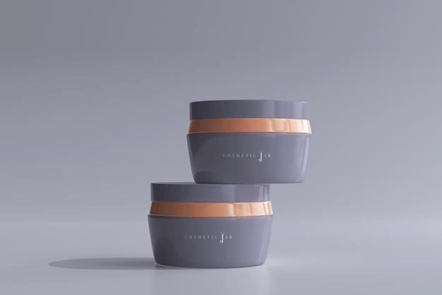 Maquette de pot cosmétique