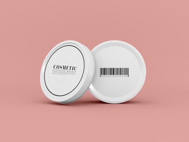 Maquette de pot de cosmétiques