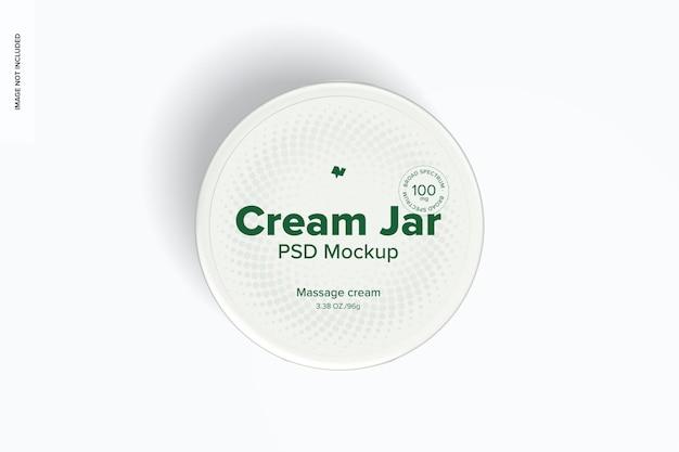 Maquette de pot de crème de 3,38 oz