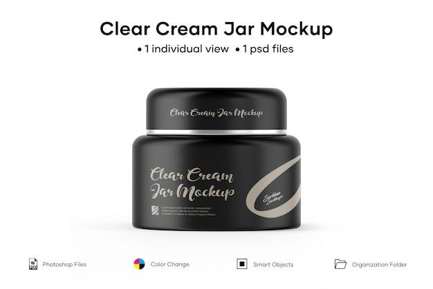 Maquette de pot de crème claire