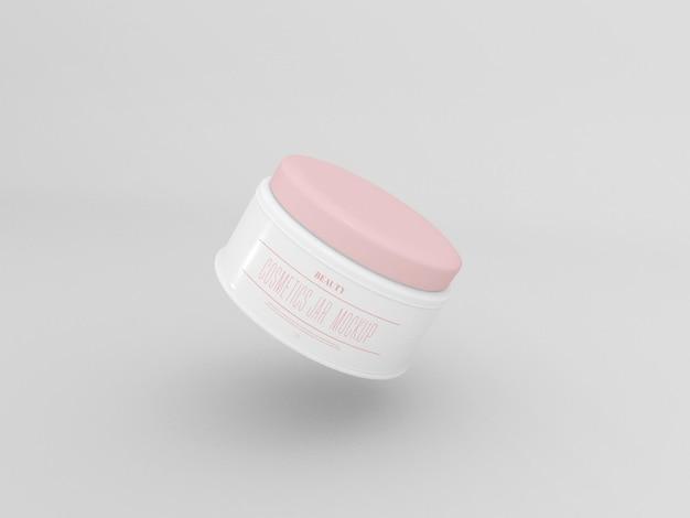 Maquette de pot de crème cosmétique