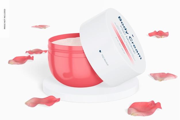 Maquette de pot de crème pour le corps de 8,1 oz, ouverte