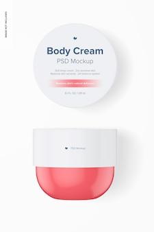 Maquette de pot de crème pour le corps de 8,1 oz, vue de dessus