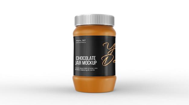 Maquette de pot d'emballage de chocolat