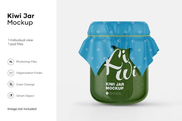 Maquette de pot de kiwi