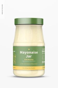 Maquette de pot de mayonnaise 14 oz, vue de face