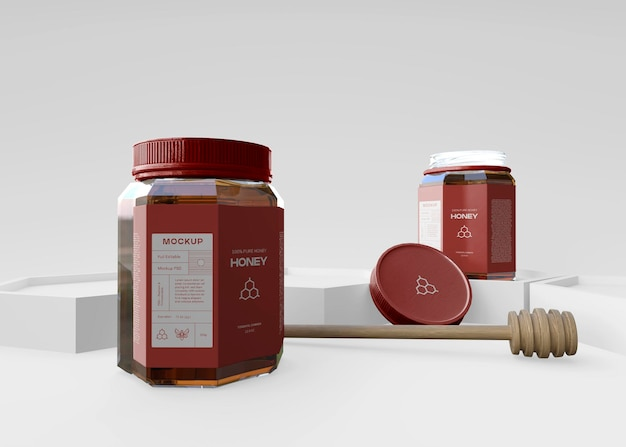 Maquette de pot de miel