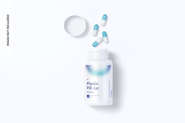 Maquette de pot de pilule en plastique