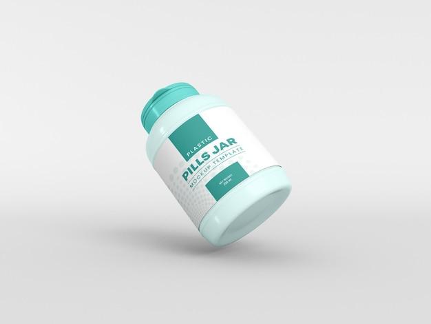 Maquette de pot à pilules en plastique