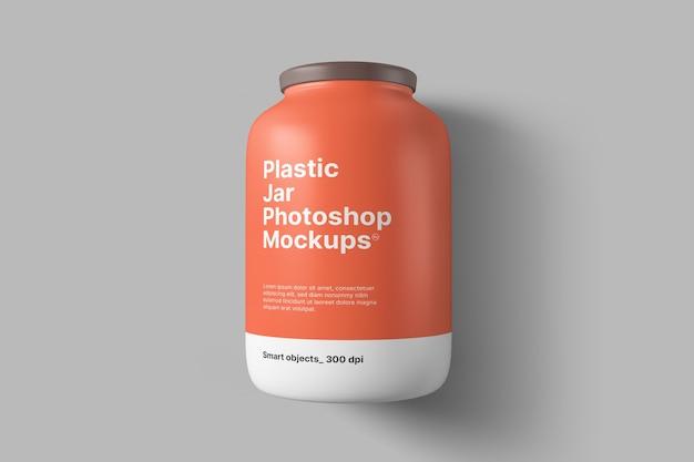 Maquette de pot en plastique