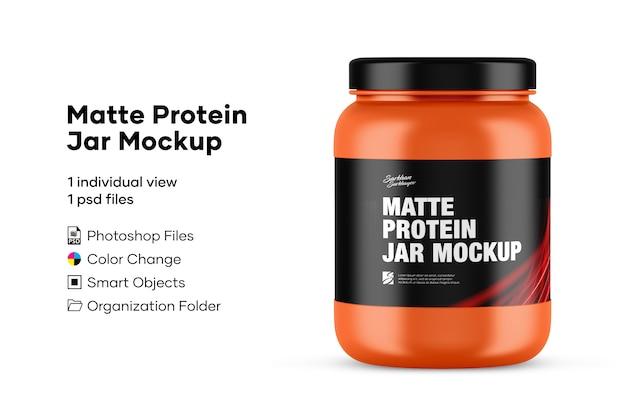 Maquette de pot de protéines mat