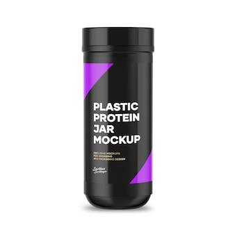 Maquette de pot de protéines en plastique