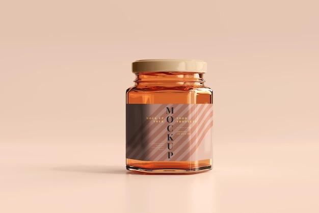 Maquette de pot en verre ambré
