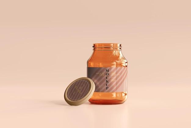 Maquette de pot en verre de marmelade
