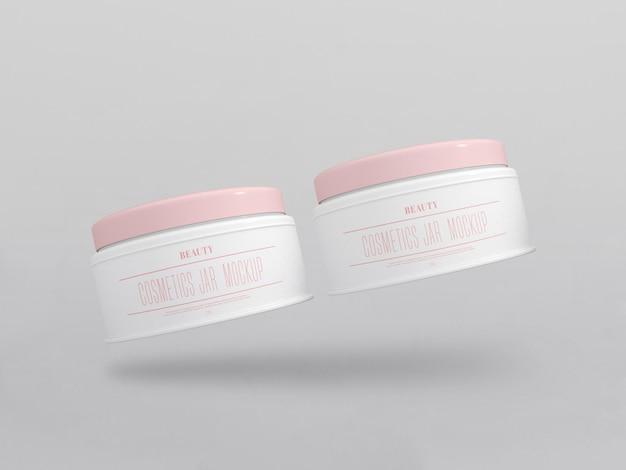 Maquette de pots de crème cosmétique