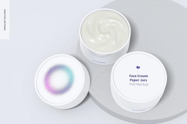 Maquette de pots de crème pour le visage 4 oz