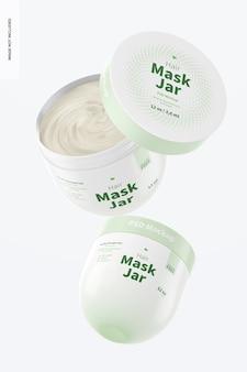 Maquette de pots de masque capillaire, flottant