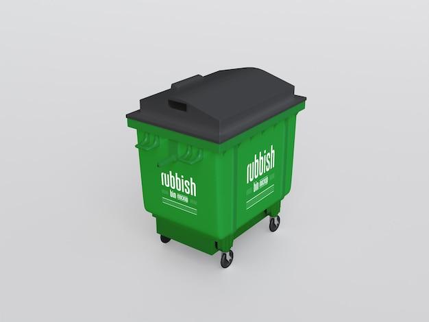 Maquette de poubelle en plastique