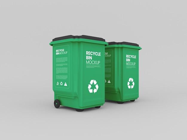 Maquette de poubelles en plastique