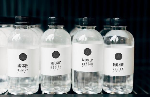 Maquette pour bouteilles d'eau minérale