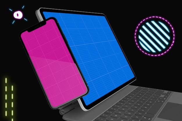 Maquette pour mobile et tablette