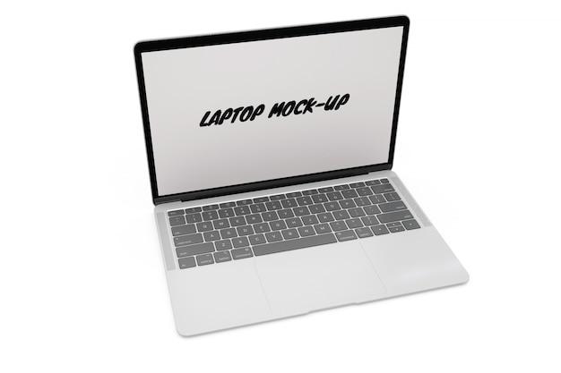 Maquette pour ordinateur portable isolée