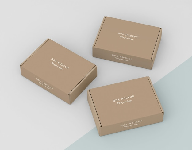 Maquette pour le stockage de la boîte en carton