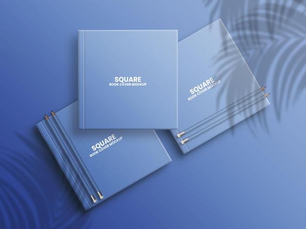 Maquette premium de couverture de livre carrée
