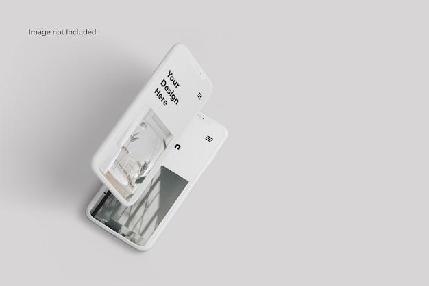 Maquette de présentation de l'appareil pour smartphone en argile