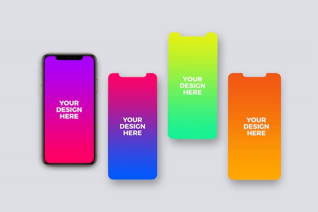 Maquette de présentation de l'application pour smartphone