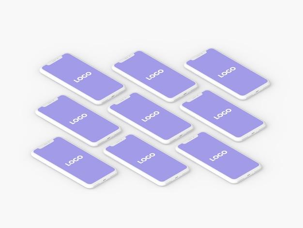 Maquette de présentation en argile isométrique iphone x