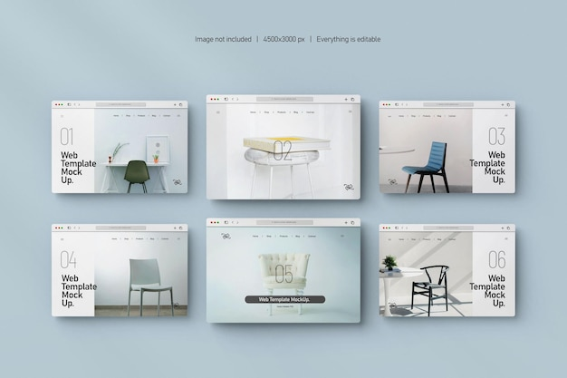 Maquette de présentation de site web isolée