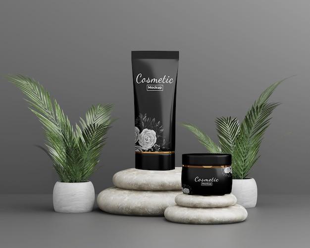 Maquette de produit cosmétique de beauté