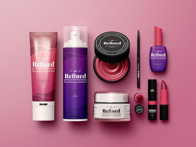 Maquette de produits cosmétiques