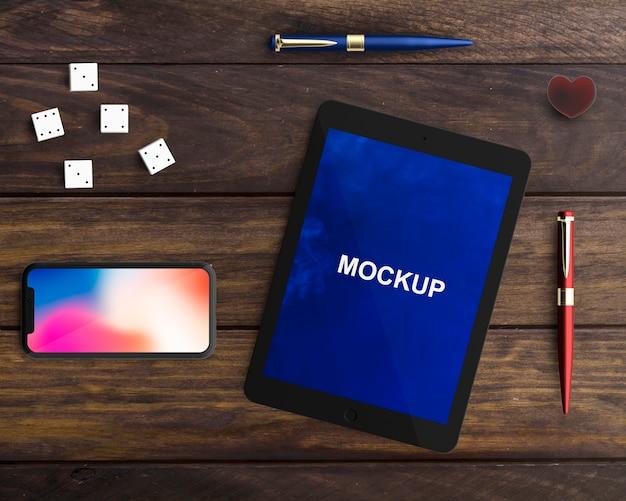 Maquette professionnelle pour tablette et smartphone