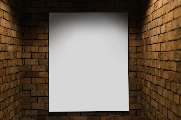 Maquette de projecteur contre un mur de briques