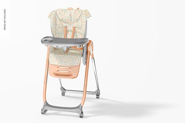 Maquette psd de chaise d'alimentation pour bébé